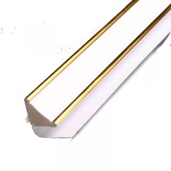 Плинтус потолочный люкс золото 3м