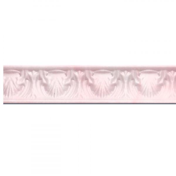 Плинтус потолочный Р-05 Агат розовый с рисунком 32*32 1м