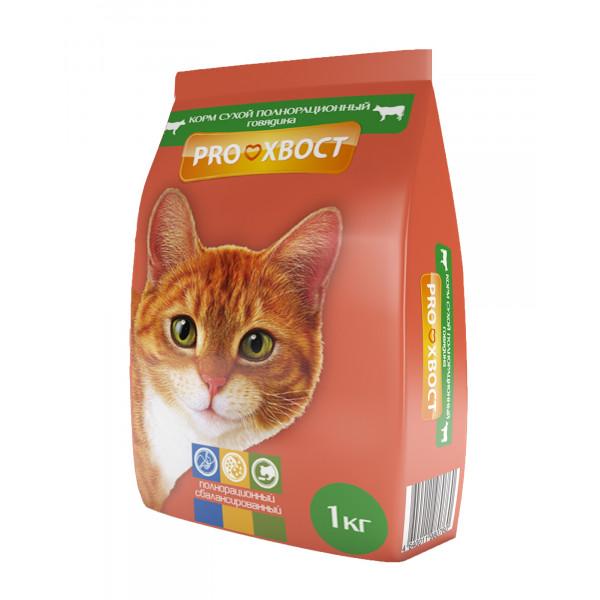 ПРОхвост д/кошек сух. 1кг кролик