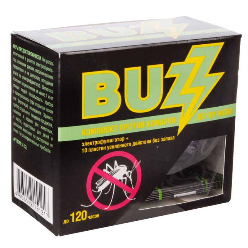 Пластины от комаров Buzz усилен. без запаха (95795)