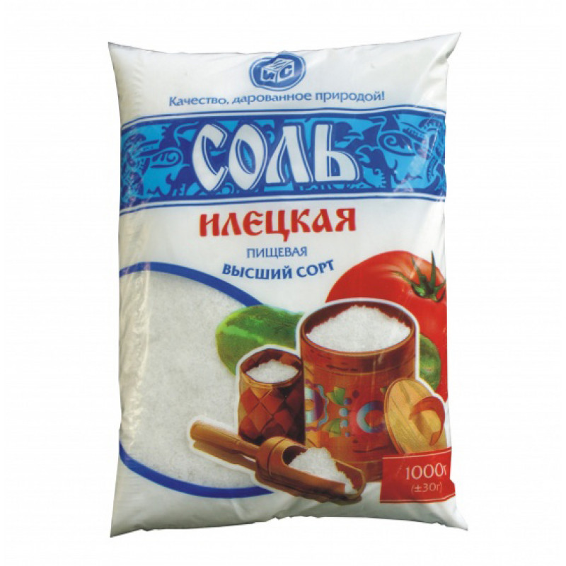СОЛЬ фасов. в/с 1п Илецк  1 кг