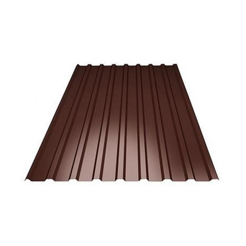 Профлист С-8 1,2*6 шоколад 8017 ЭКОНОМ