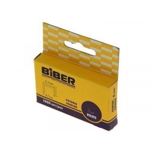 Скобы 10 мм (1000 шт) Бибер 85813 Тип№53