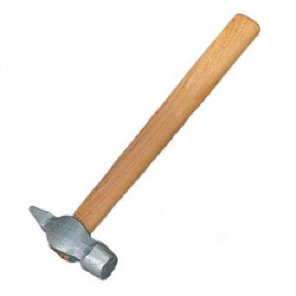 Молоток слесарный, 400г, круглый боек, деревянная рукоятка