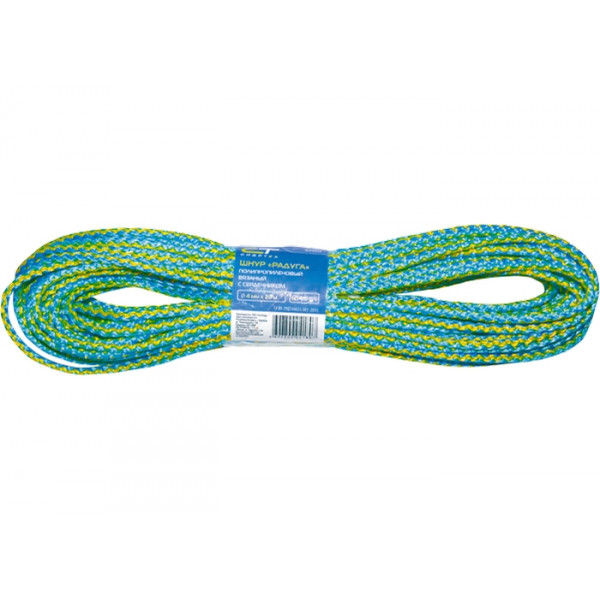 Шнур вязанный 4мм*20м цветной