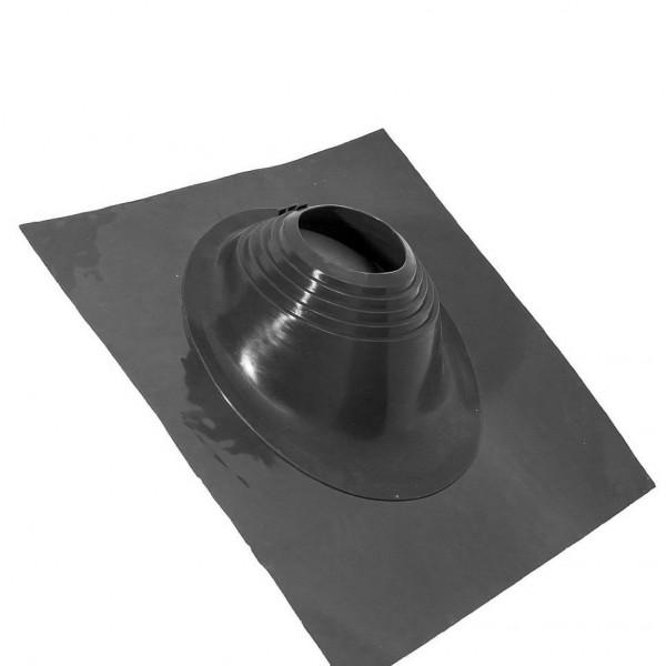 Манжета д/дымоходн. трубы угл №1 черный (75*200) (резина)