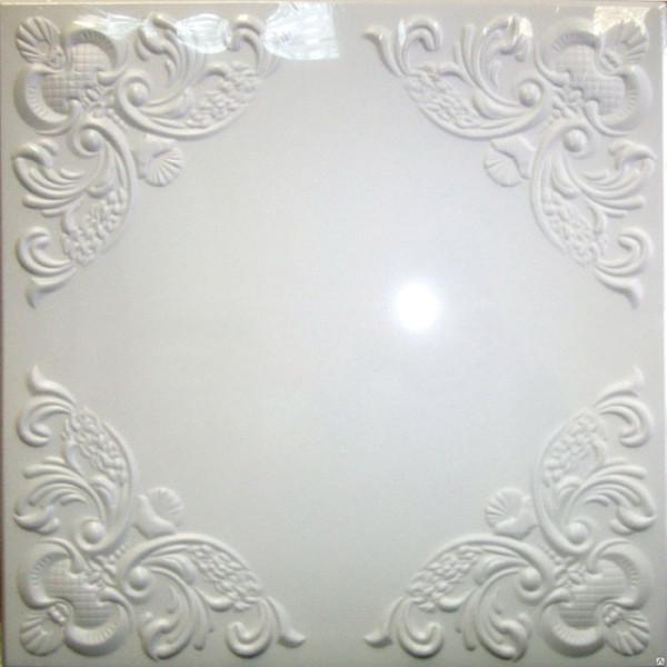 Плитка потолочная 2072 С /белый/ 0,50*0,50м (8шт)