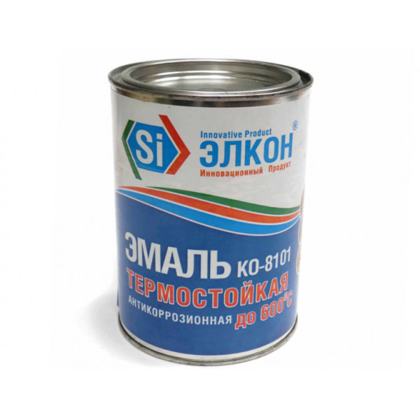 Эмаль термостойкая серая 0,8 кг ЭЛКОН/12