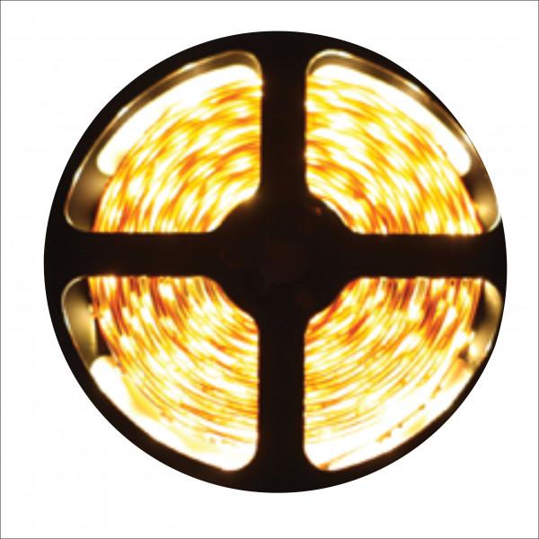 Лента светодиодная  ECOLA 12 V желтый (5м) IP 20