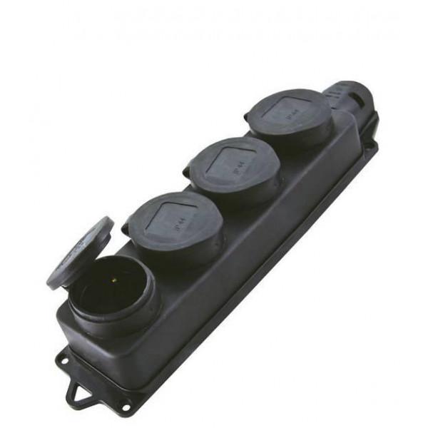 Розетка каучук 4м 2Р+РЕ 250В IP44 ТДМ 25639