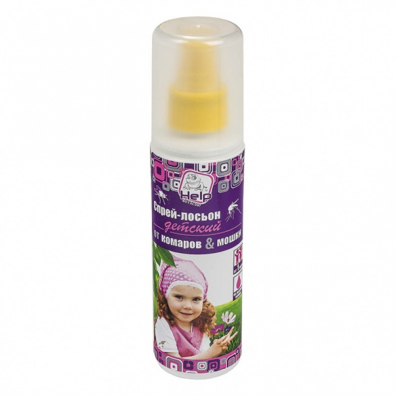 Спрей-лосьон от комаров и мошек детский 125мл HELP