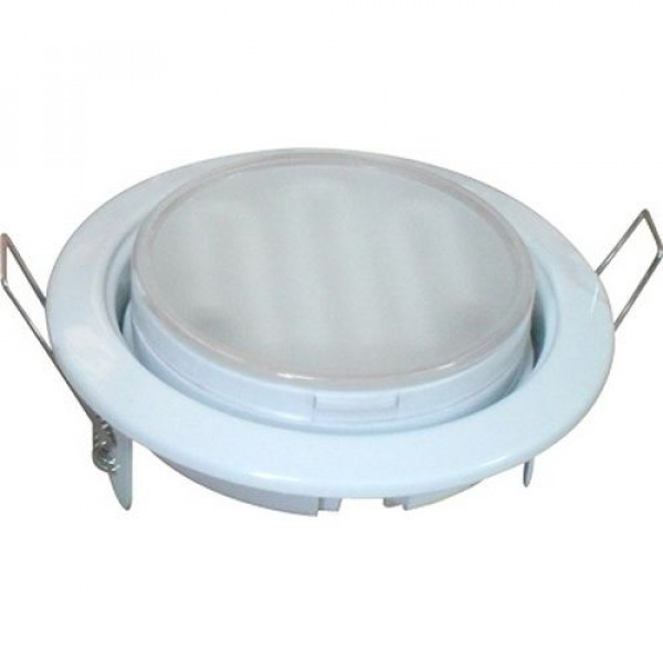 Светильник точечный Ecola GX53-H4  38*106 белый
