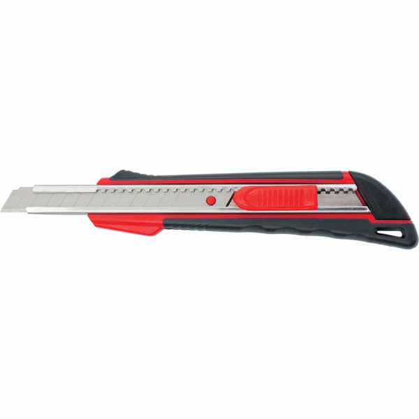 Нож технический 9мм метал. направ. эргоном. двухком. рукоятка Matrix