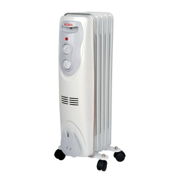 Масляный радиатор ОМ-5Н (1 кВт) Ресанта