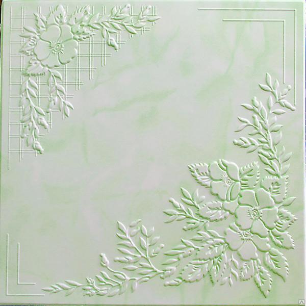 Плитка потолочная 2068 С /агат изумрудный/ 0,50*0,50м (8шт)