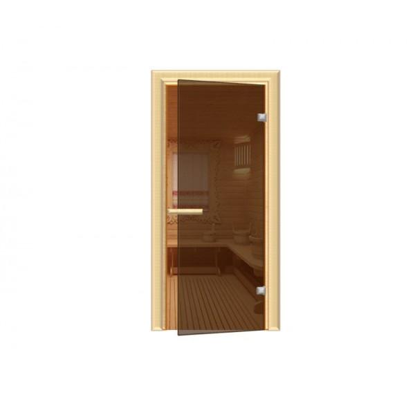 Дверь 1890*690 мм ДЛЯ БАНИ термостекло Бронза Aqd