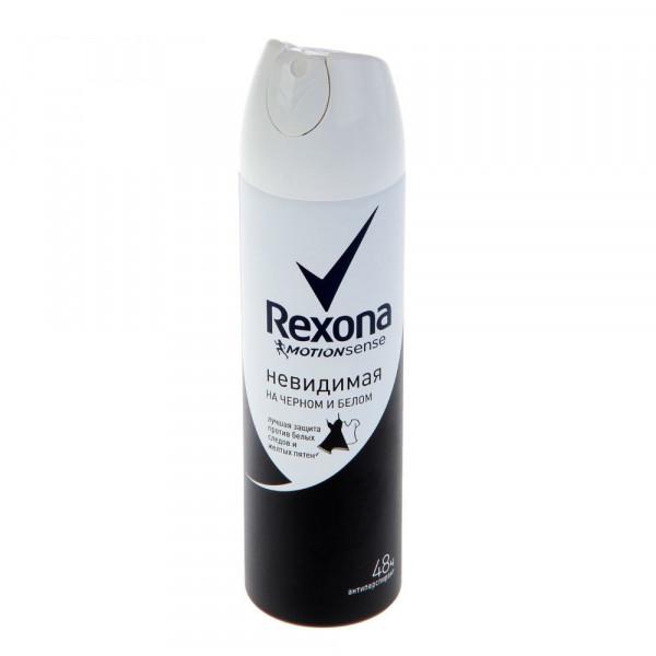 Дезодорант РЕКСОНА 150мл спрей Невидимая на черном и белом