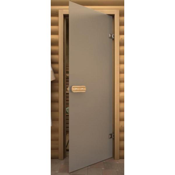 Дверь 1890*690 мм ДЛЯ БАНИ термостекло Б/Ц матовая Aqd
