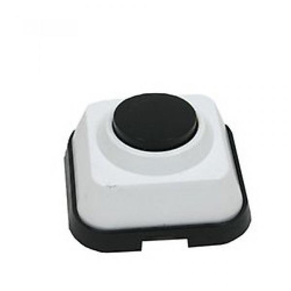 Кнопка для звонка белая с черной кнопкой