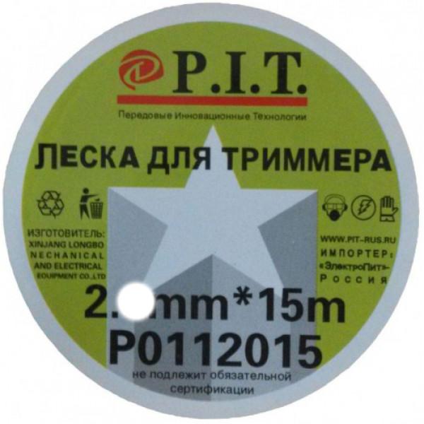 Леска для триммеров 2,4мм 15м Звезда P.I.T.