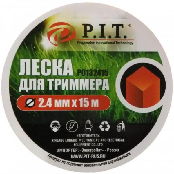 Леска для триммеров 2,4мм 15м квадрат P.I.T.