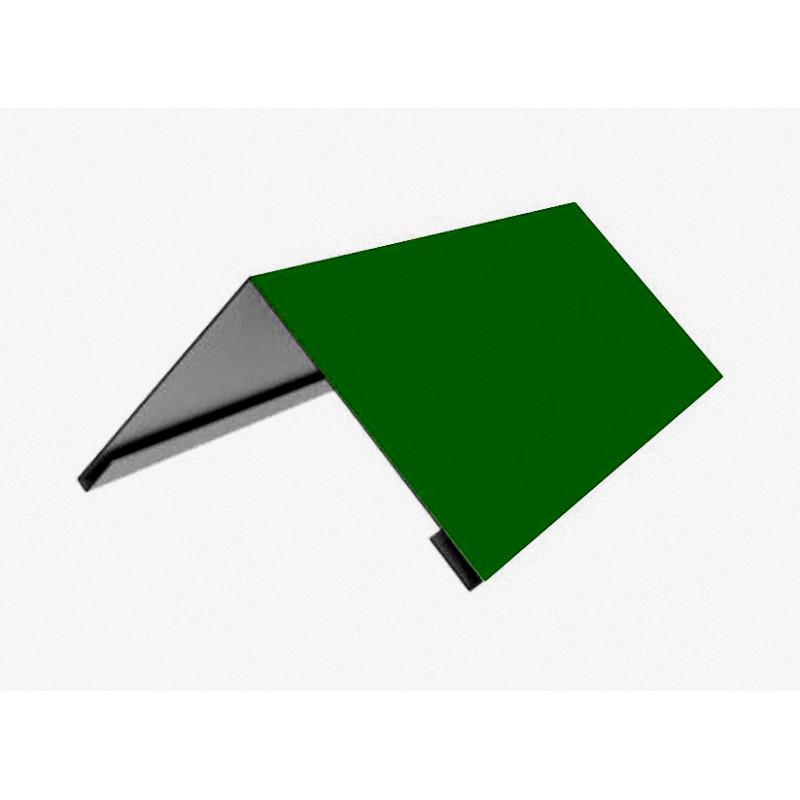 Накладка коньковая 140*140 2м (6005) Зеленый мох)