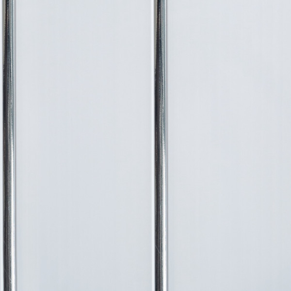 Панель ПВХ 2-х секционная серебро 0,24*3м СТАНДАРТ_24/10