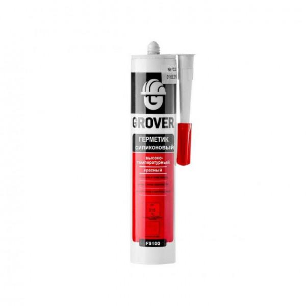 Герметик GROVER FS100 высокотемпературный красный 300мл.