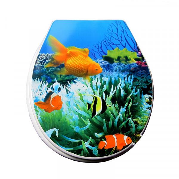 """Сиденье для унитаза """"Золотая рыбка"""" мягкое"""