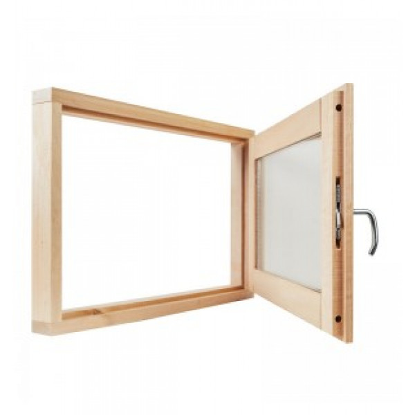 Окно для бани 40*60*100 СМ2 стекла