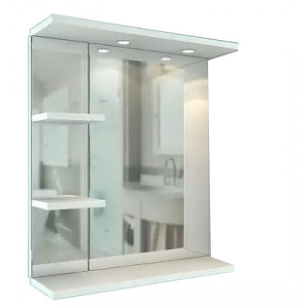 Зеркало-шкаф Лима  550 (2 полки)