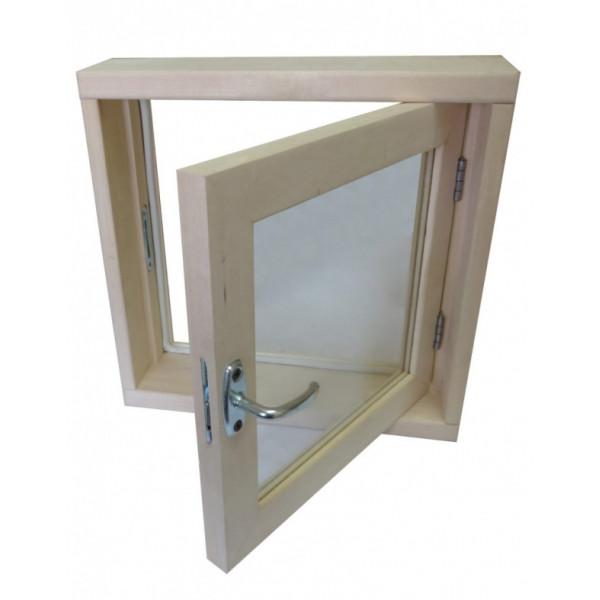 Окно для бани 40*40*100 СМ2 стекла ЛИПА