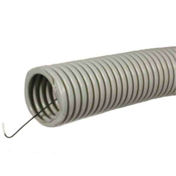 Труба ПВХ гофро с зондом D20мм (100м,50м)