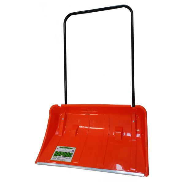 Движок-скрепер для снега пластм. 860*500 с алюм. планкой/колеса Парнас