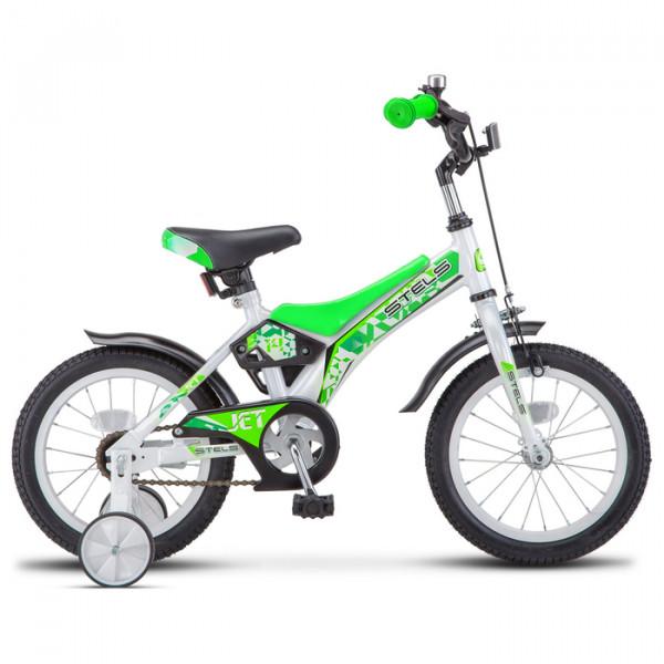 Велосипед 14 Stels Jet Z010 цвет белый/салатовый