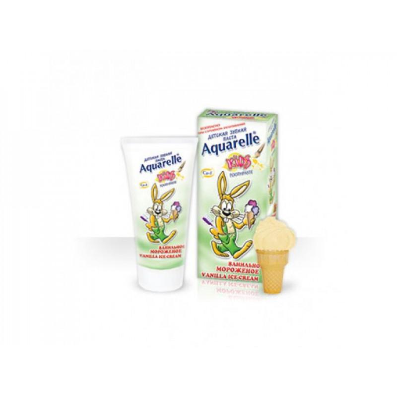Зубная паста Акварель детская Ванил. мороженое