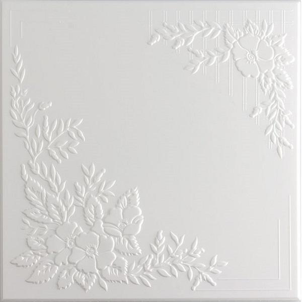 Плитка потолочная 2068 С /Белый/ 0,50*0,50м (8шт)