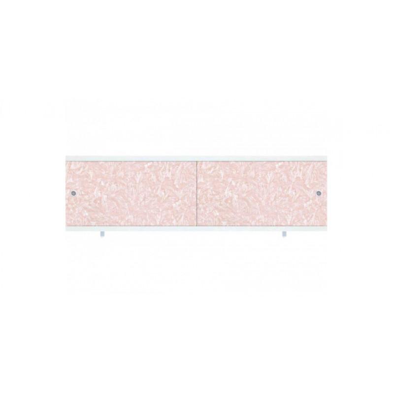 """Экран для ванн """"КВАРТ"""" розовый иней 1,7м (33428)"""