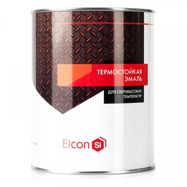 Эмаль термостойкая красно-коричневая 0,8 кг ЭЛКОН/12