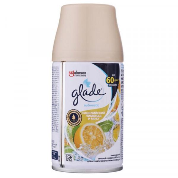 Освежитель GLADE смен.блок 269мл. Сицилийский лимонад и мята