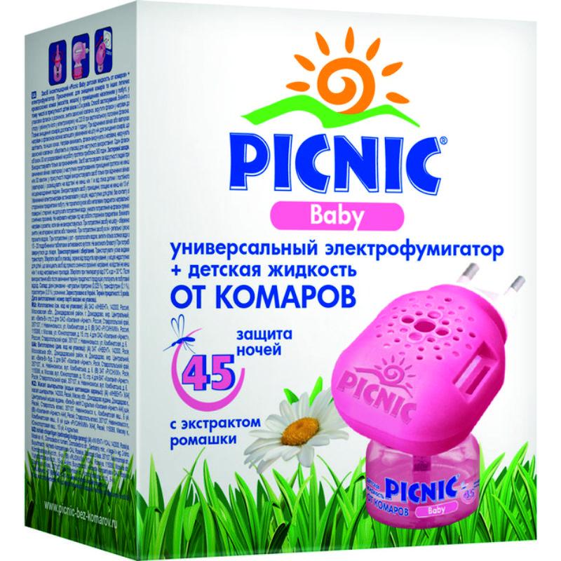 Электрофумигатор+жидкость от комаров Picnic Baby 45 ночей