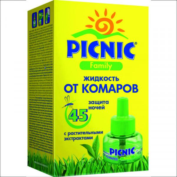 Жидкость от комаров Picnic Family 45 ночей 30мл