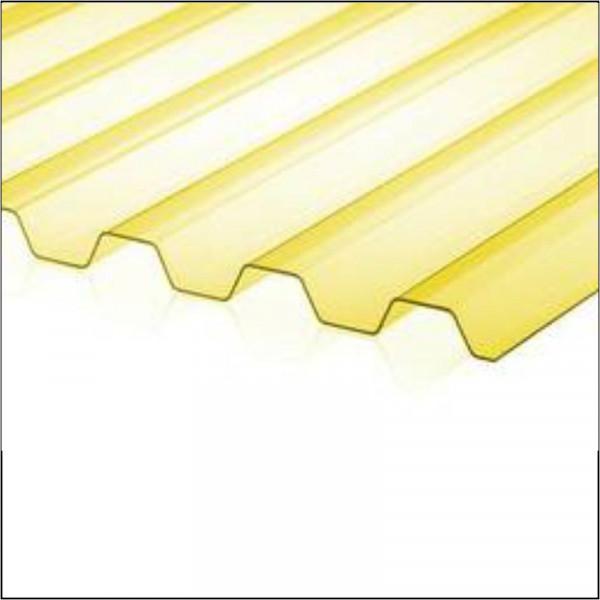 Профнастил из поликарбоната 2000*1150 Желтый
