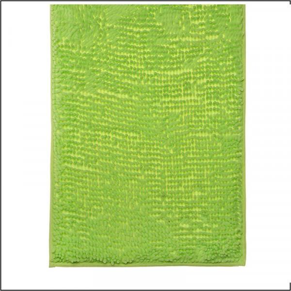 Коврик для ванной 50*80 см микрофибра h=2см Лапша зеленый