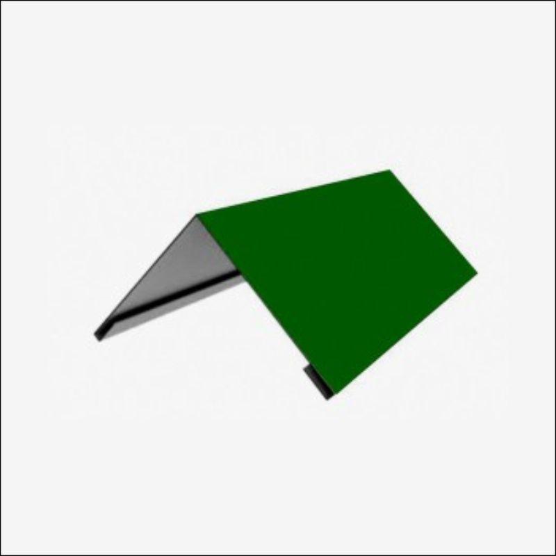Накладка коньковая 150*150 2м (6005) Зеленый мох)