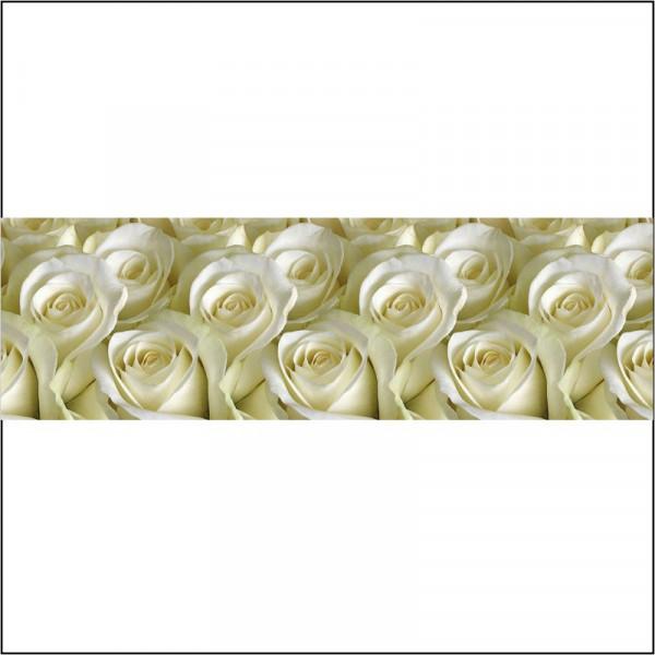 Панель отделочн. АБС  Белые розы 600*3000 пластик