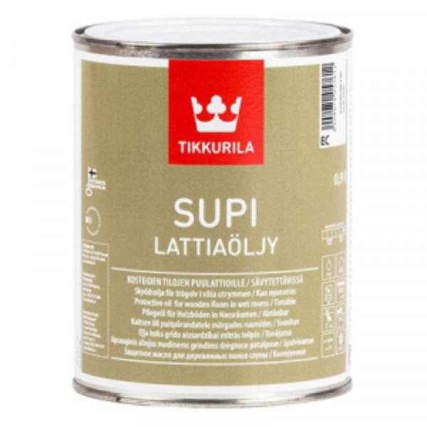 Масло для полов в банях и саунах SUPI LATTIAOLJY 0,9л Tikkurila