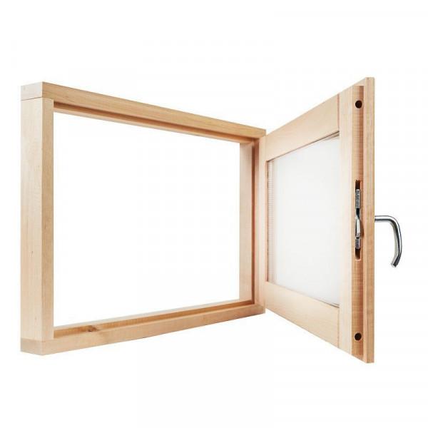 Окно для бани 40*60*100 СМ2 стекла сатин мат