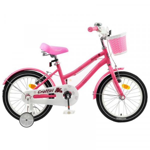Велосипед 18 Graffiti Flower цвет розовый/белый