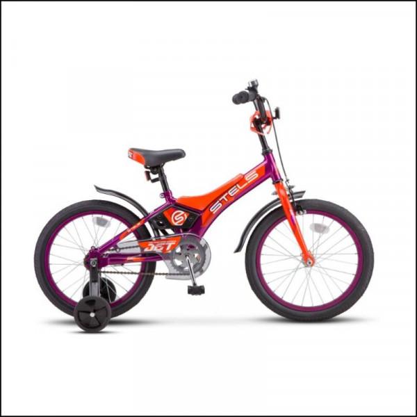 Велосипед 18 Stels Jet Z010 фиолетовый/оранжевый